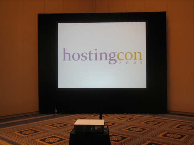 hostingcon-2009-monitor-in-the-main-hall-of-the-conference